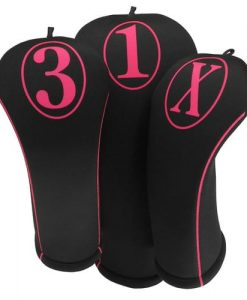beejos simple hot pink golf headcovers