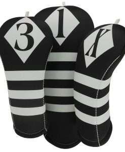 victor black white golf headcover