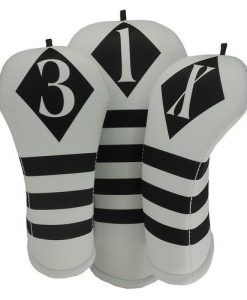 beejos victor white black golf headcover