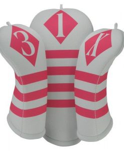 victor white hot pink golf headcover