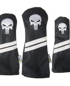 Punisher Skull Black Golf Headcovers