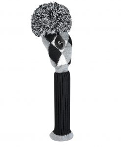 Gray Black White Diamond Fairway Golf Headcover