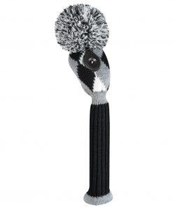 Gray Black White Diamond Hybrid Golf Headcover