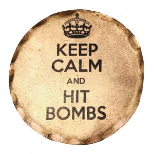 Keep Calm and Hit Bombs Ball Marker